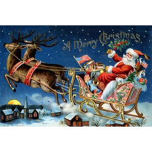 'A Merry Christmas' Graphic Art