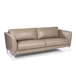 Keene Leather Sofa by Orren Ellis
