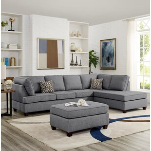 Hollins Reversible Sectional with Ottoman