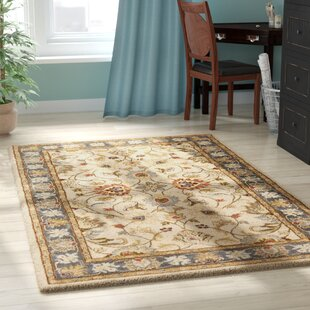 Aaron Hand-Tufted Wool Yellow/Brown Area Rug by Birch Lane™ Heritage