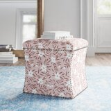Servier 19 Square Floral Storage Ottoman by Kelly Clarkson Home