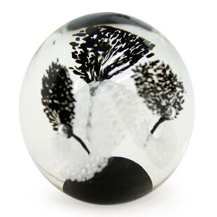 Bloomsbury Market Mccluskey Flowers Handblown Art Glass Paperweight