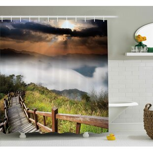 Nature Hazy Foggy Sky Italian Shower Curtain by East Urban Home