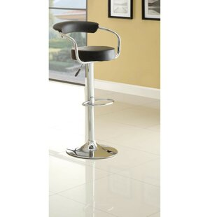 Claudel Adjustable Height Swivel Bar Stool by Orren Ellis