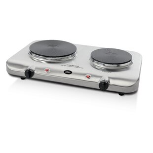 Variable Heat Control Double Burner in Stainless Steel