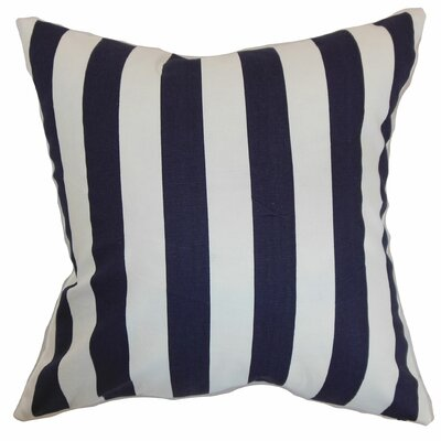 Birch Lane™ Heritage Knotts Indoor/Outdoor 100% Cotton Throw Pillow Color: Blue, Size: 18 H x 18  W