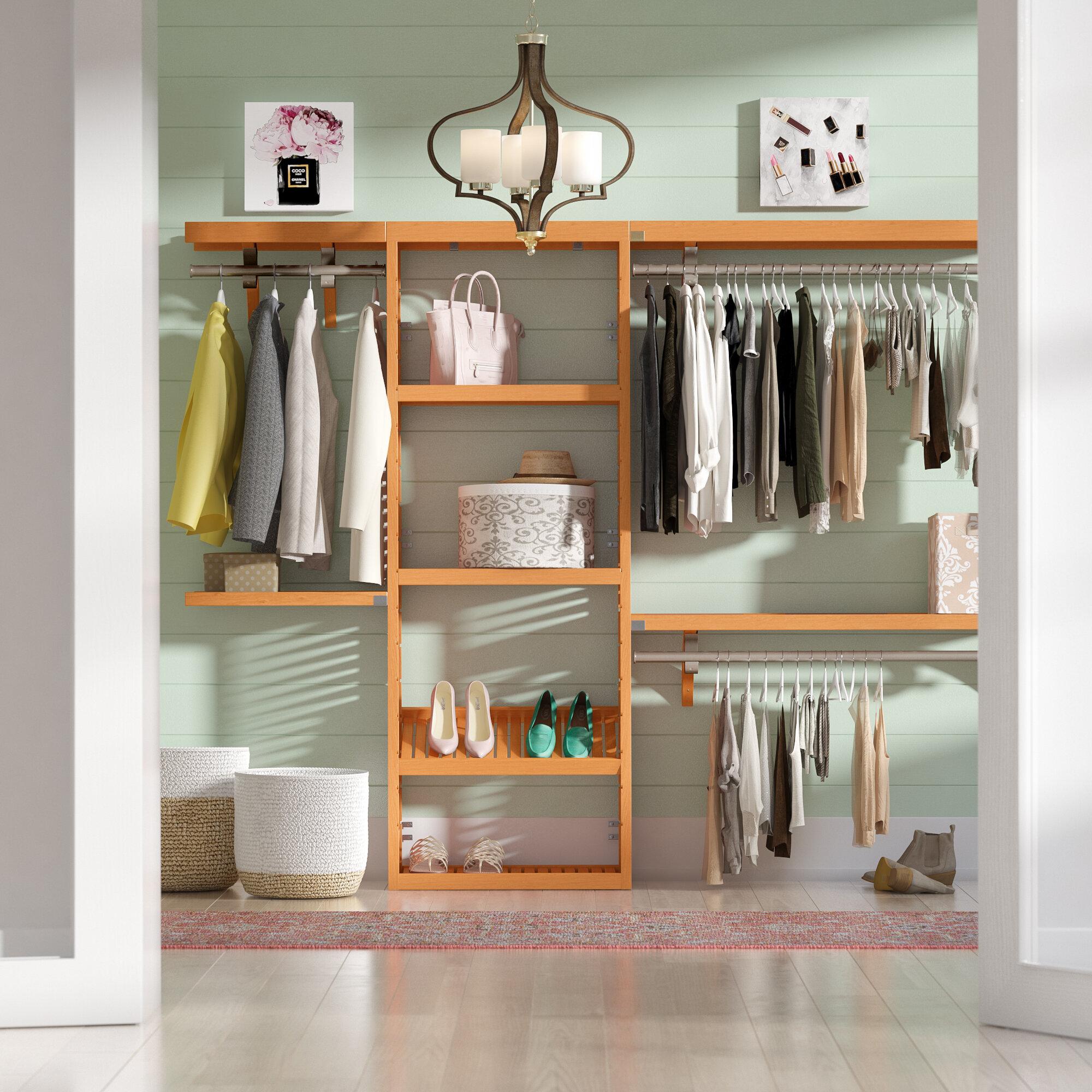 premium organization storage walk w system closet pdx wayfair rebrilliant corner