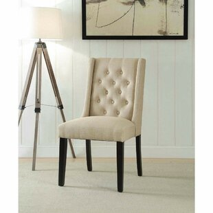Reviews Chan Contemporary Wing-back Upholstered Dining Chair (Set of 2) by Alcott Hill Reviews (2019) & Buyer's Guide