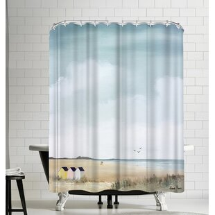 Hans Paus Beach Huts Single Shower Curtain