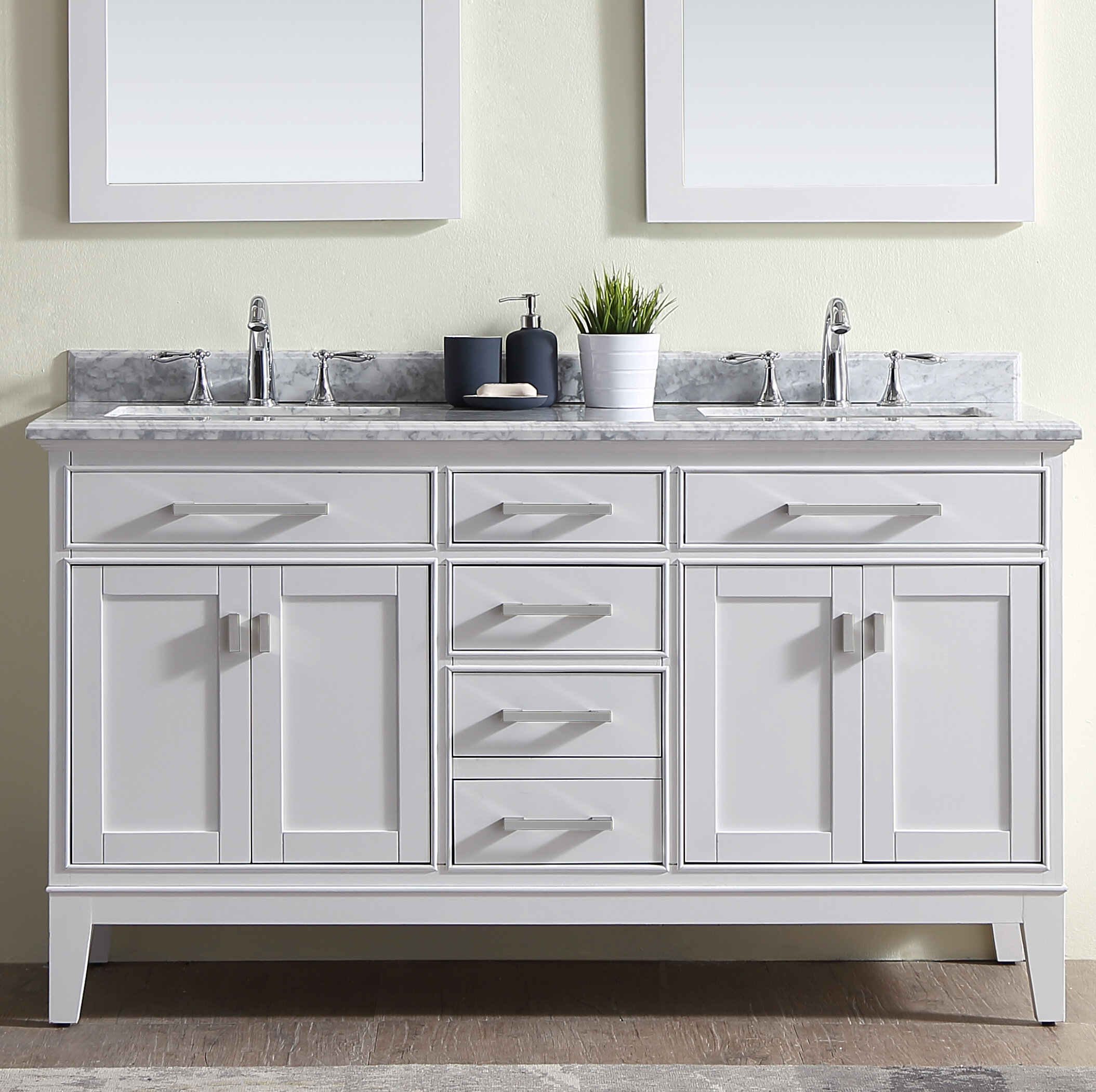 Arminta 60 Double Bathroom Vanity Set