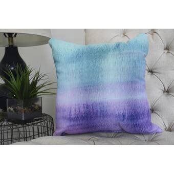 Ebern Designs Ferrel Painted Sunset Square Pillow Cover And Insert Wayfair