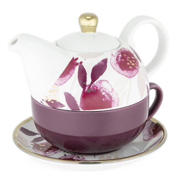 Pinky Up Addison Berry 3 Piece Ceramic Tea Set Wayfair
