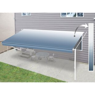 Vinyl 9ft. 2in. W x 8ft. D Retractable Fabric by ALEKO