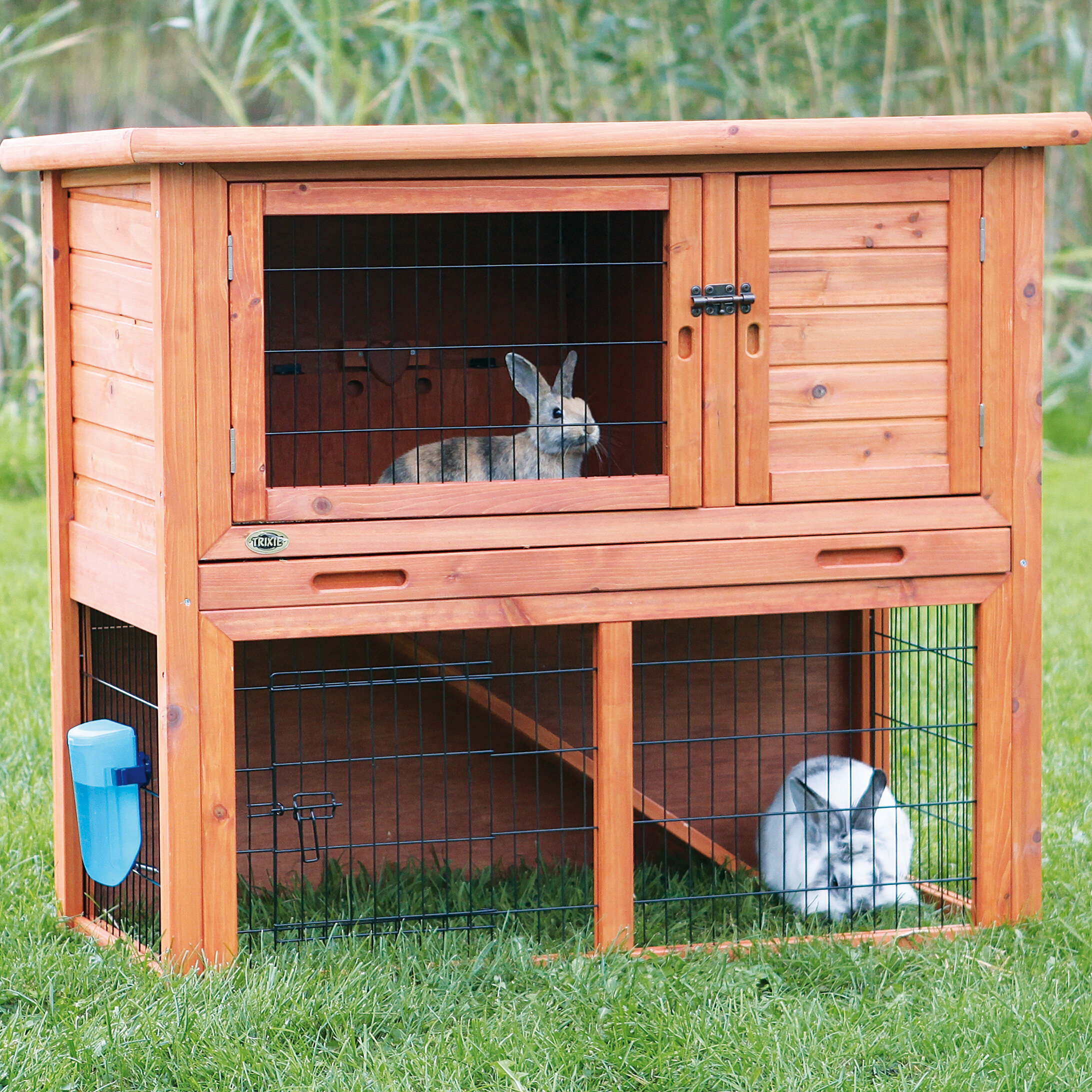 automatic img wood hutch missouri with solid homestead poop little collector rabbit