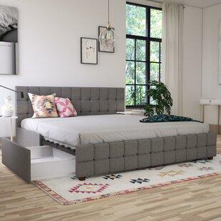 Elizabeth Upholstered Platform Bed with Storage by CosmoLiving by Cosmopolitan