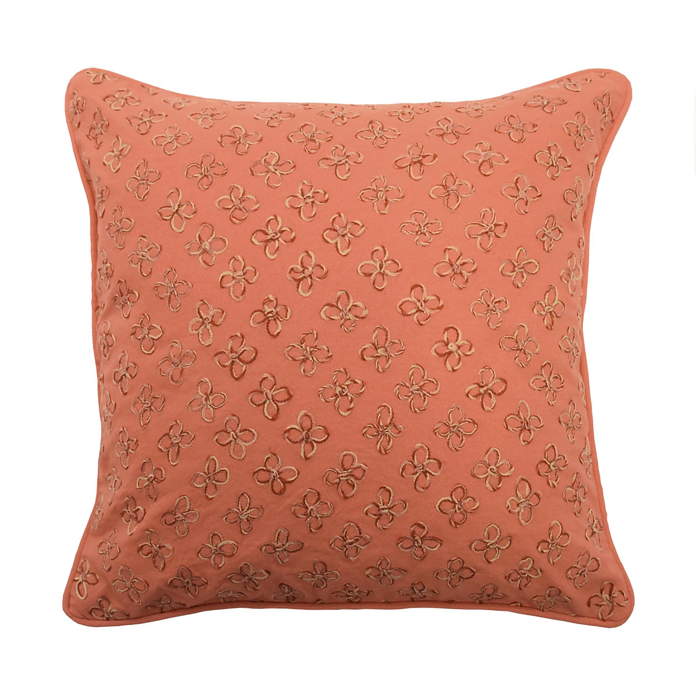 Waverly Laurel Springs Applique Cotton Throw Pillow Reviews Wayfair