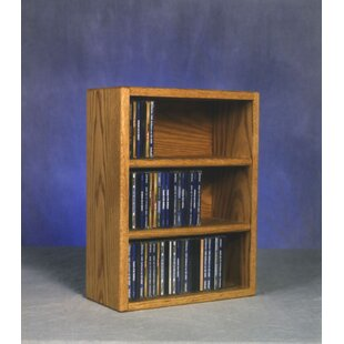 Wood Shed 300 Series 78 CD Multimedia Tabletop Storage Rack