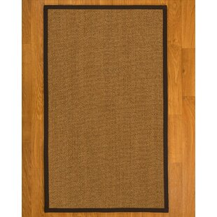 Best Reviews Asmund Border Hand-Woven Brown/Onyx Area Rug By Bayou Breeze
