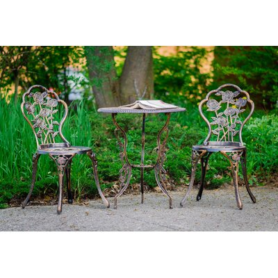 Crooke 3 Piece Bistro Set by August Grove Comparison