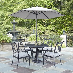 Darby Home Co Lansdale 7 Piece Dining Set with Cushions and Umbrella