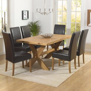 Home Etc Essgruppe Rochelle Mit Ausziehbarem Tisch Und 6 Stühlen
