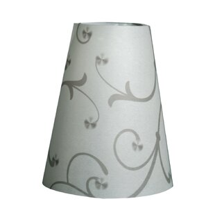 Flower Silhouette Vellum Party 5 Empire Lamp Shade with Closure Tabs (Set of 20)