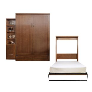Quinn Queen Murphy Bed with Drawer Bookcase