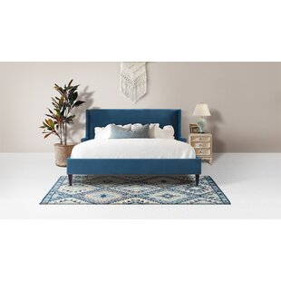 Clarice Wingback Accent Upholstered Platform Bed