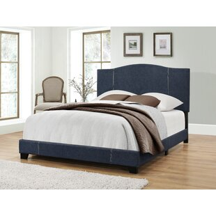 Black Mesa Upholstered Panel Bed