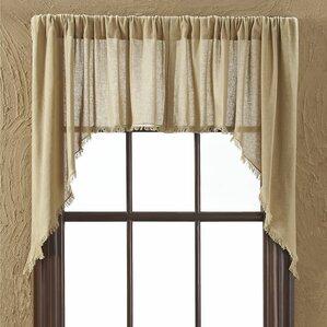 Francoise Cloth Khaki Fringed Swag Curtain Valance (Set Of 2) Part 37