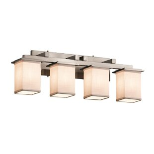 Latitude Run Red Hook 4 Light Square w/ Flat Rim Vanity Light