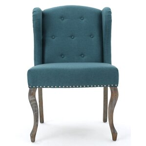 Hollange New Velvet Wingback Chair by Mercer41