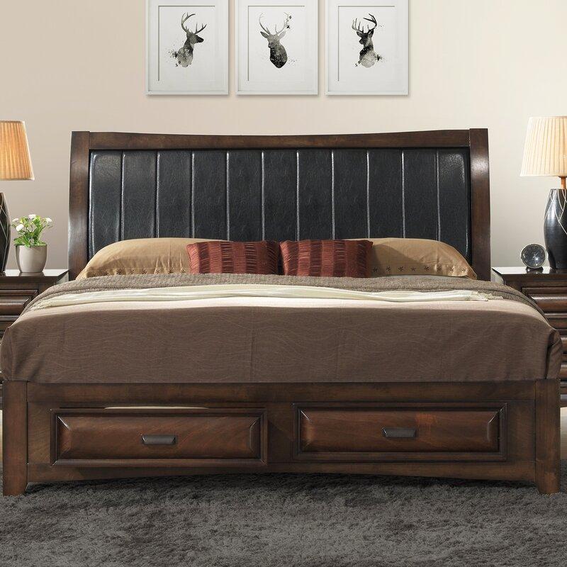 Roundhill Furniture Broval Upholstered Storage Platform Bed ...