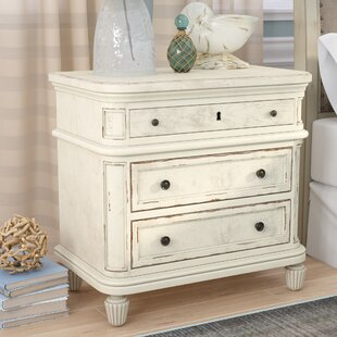 Beachcrest Home Waverley 3 Drawer Nightst..