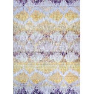 Beyer Gold/Purple Indoor/Outdoor Area Rug by Bungalow Rose