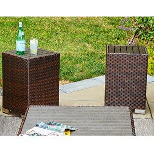 Ivy Bronx Sarver Rattan End Table Set (Set of 2)