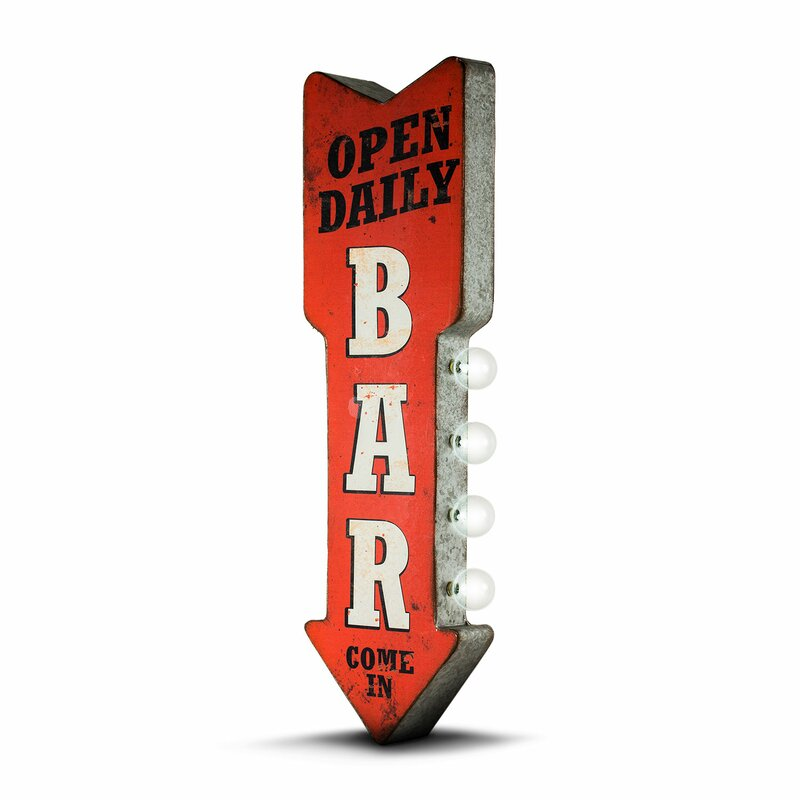Open Daily Bar Led Marquee Sign