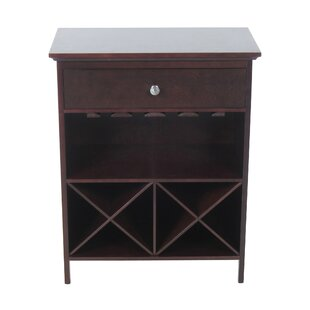 Homestyle Collection 8 Bottle Floor Wine Cabinet