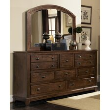 Newbury 8 Drawer Dresser with Mirror by Darby Home Co