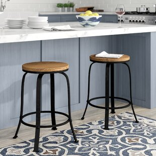 Fortville 24 Swivel Bar Stool (Set of 2) DarHome Co