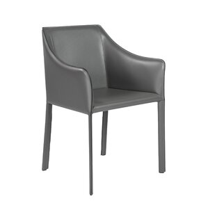 Willards Genuine Leather Upholstered Dining Chair by Wade Logan