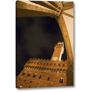 'Italy, Florence Palazzo Vecchio at Night' Photographic Print on Wrapped Canvas