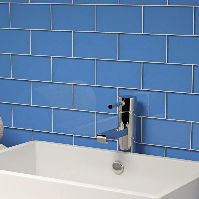 Giorbello 3 X 6 Gl Subway Tile In Azure Reviews Wayfair
