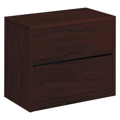 10500 Series 2 Drawer Lateral Filing Cabinet HON Finish Mahogany