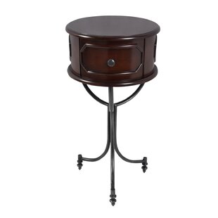 Matthew Drum End Table by Charlton Home