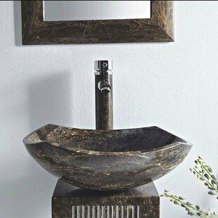 Reviews Ares Stone 16 Pedestal Bathroom Sink ByMTD Vanities