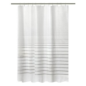 black and white shower curtain set. PEVA Stripe Design Shower Curtain Set Gray  Silver Curtains You ll Love Wayfair