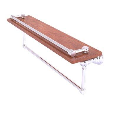 Arminta Gallery Wood Wall Shelf Darby Home Co Size 554 H X 22 W X 74 D Finish Satin Chrome