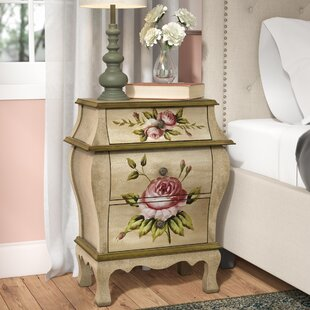Lark Manor Alette 3 Drawer Nightstand
