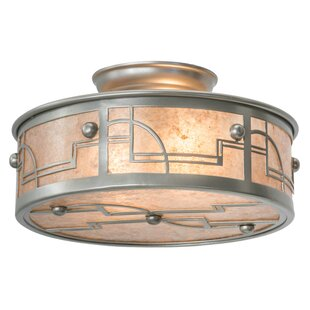 Bloomsbury Market Aloway 2-Light Semi Flush Mount